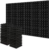 Acolchado Insonorizado, AGPtEK 24 Paquetes de Espuma Insonorizadora 25x25x5CM Paneles de Espuma Acústica, Ideales para…