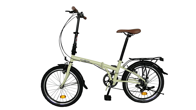 Bicicleta de ciudad pleglable ECOSMO 6SP - 20F01BL con rueda de 20: Amazon.es: Deportes y aire libre
