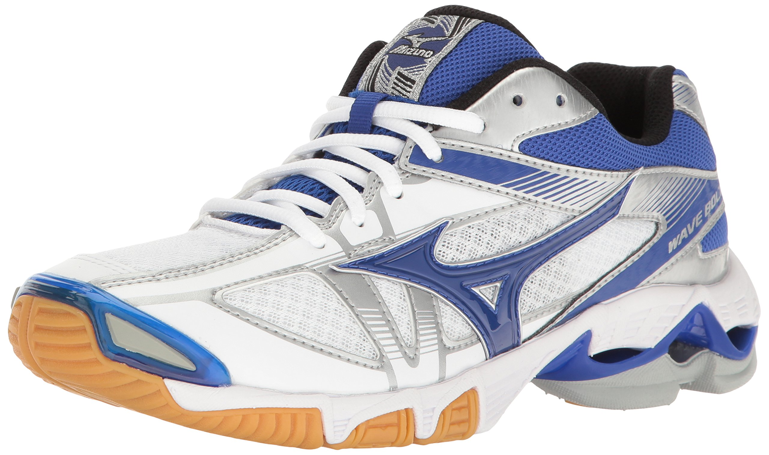 Mizuno Wave Bolt 6 Womens Volleyball Shoes, White/Royal, 6 B US