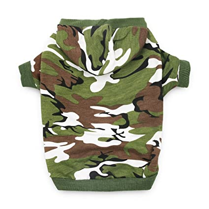 0685ae4137dd DroolingDog XS Dog Clothes Boy Dog Shirts Pet Dog Clothing Cat Costume Dog  Camo Hoodie T