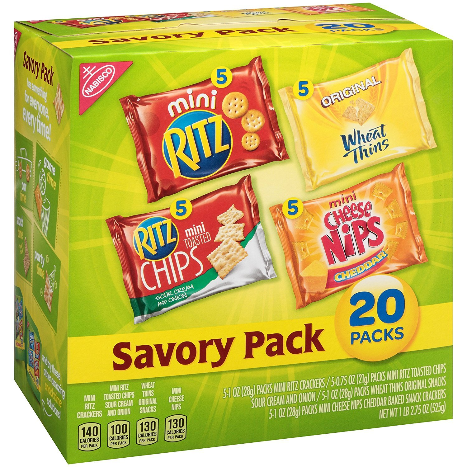 Nabisco Savory Cracker Variety Snack Packs, 18.75 Oz. (3 Boxes)