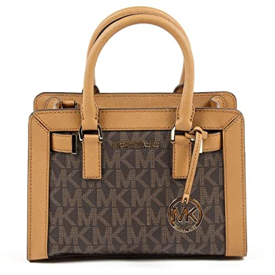 06a63e887307 Amazon.com: Michael Kors Dillon Monogram Small Satchel /Crossbody Bag  Brown: Clothing