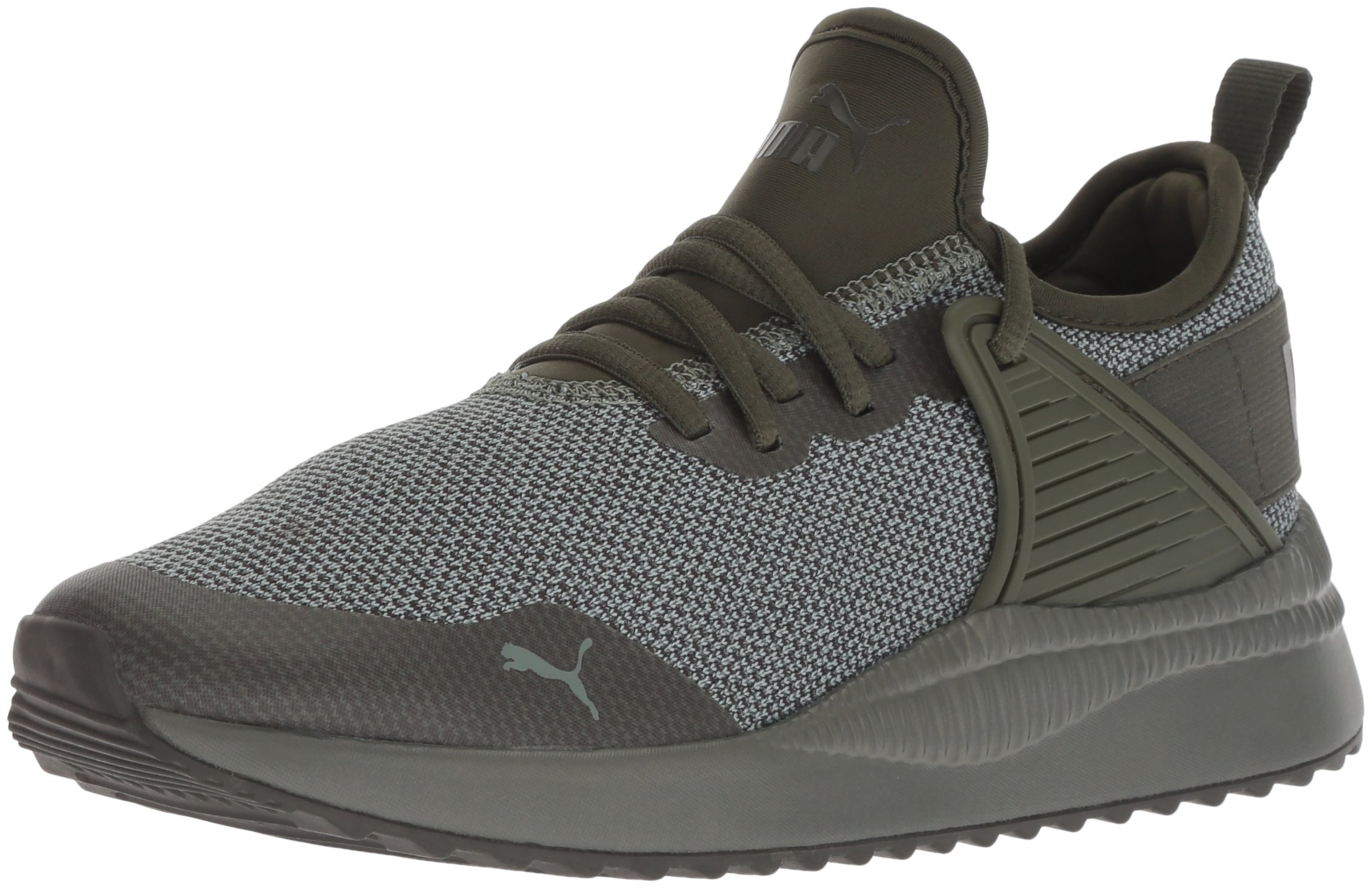 PUMA Unisex Pacer Next Cage Jr Sneaker, Forest