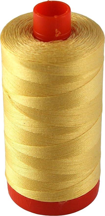Aurifil Mako Cotton Thread Solid 50wt 1422yds Medium Butter
