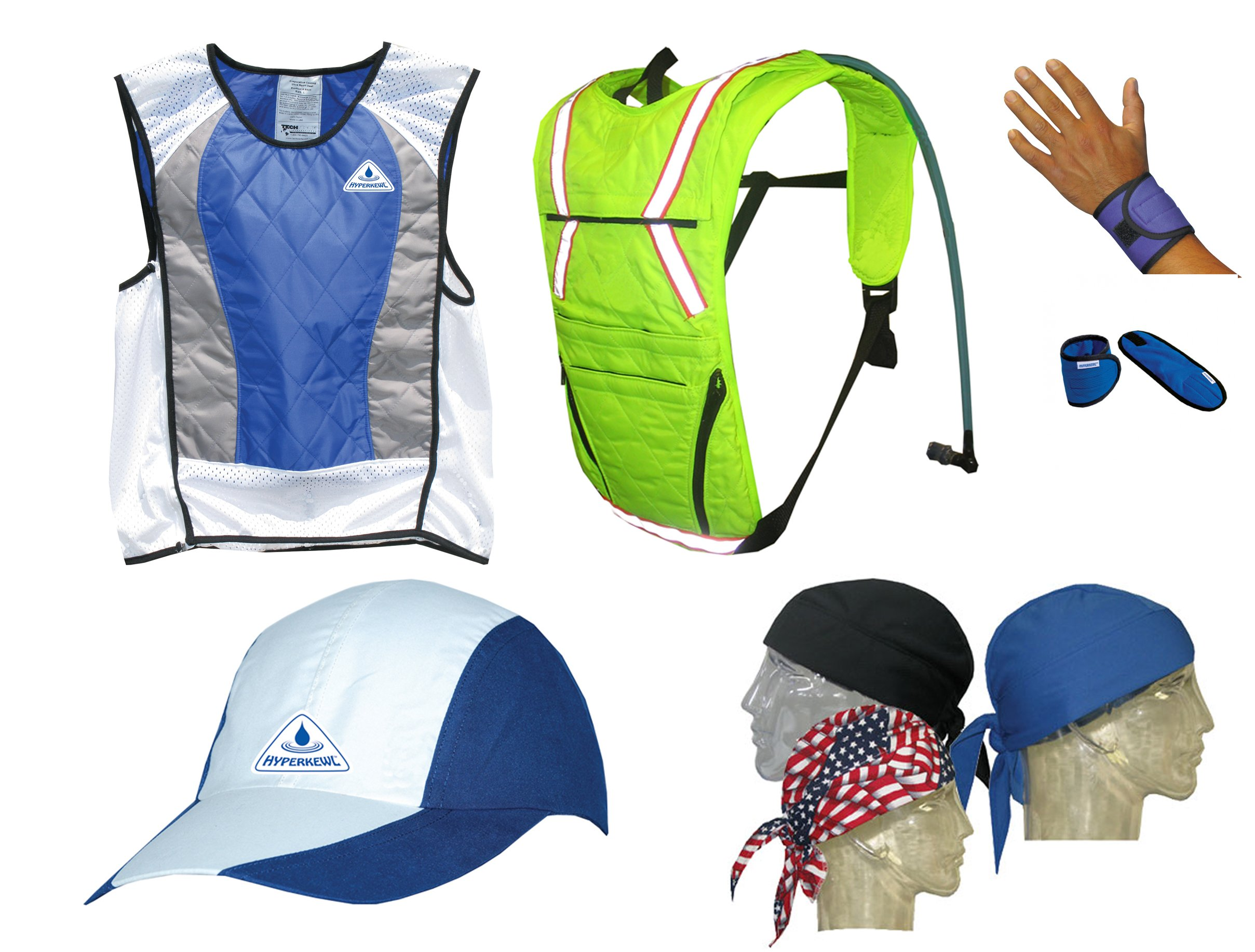 Action Sports Ultimate Summer Cooling Kit - 7 PIECES - BLUE - 3X