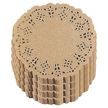 Papel Doilies – Bulk unidades de encaje redondo manteles individuales para tortas, postres, Baked