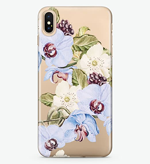 online store dfb16 9e22b Amazon.com: Hanogram Floral - iPhone X Case: Cell Phones & Accessories
