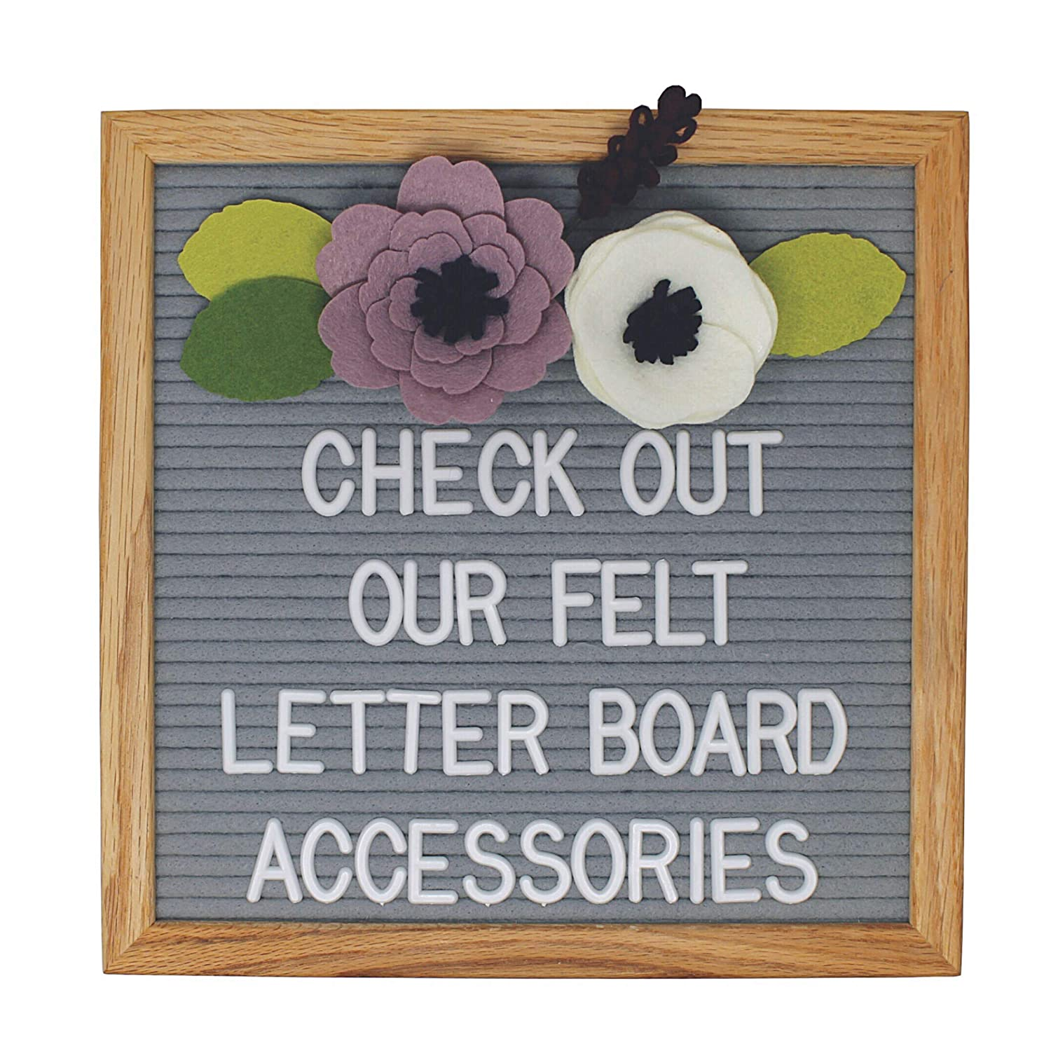 ba409c95e Amazon.com : Felt Letter Board Accessories (The Girly) - Letter Board Flower  Decorations Perfect for Baby Photo Props and Party Decor Works with All ...