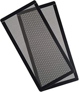 CM Computer Case Fan Dust Filter PC Mesh Filter Cover Grills with Magnetic Frame, 240 x 120 mm Black Color, 2 Pcs