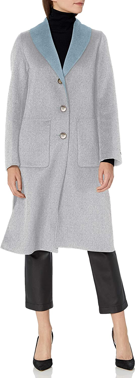 Vintage Coats & Jackets | Retro Coats and Jackets T Tahari Womens Jenna Two Tone Double Face Wool Coat with Button Closure $87.20 AT vintagedancer.com