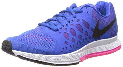 NIKE Women's Zoom Pegasus 31 Hyper Cobalt/Black/Hyper Pink Running Shoe  10.5 Men