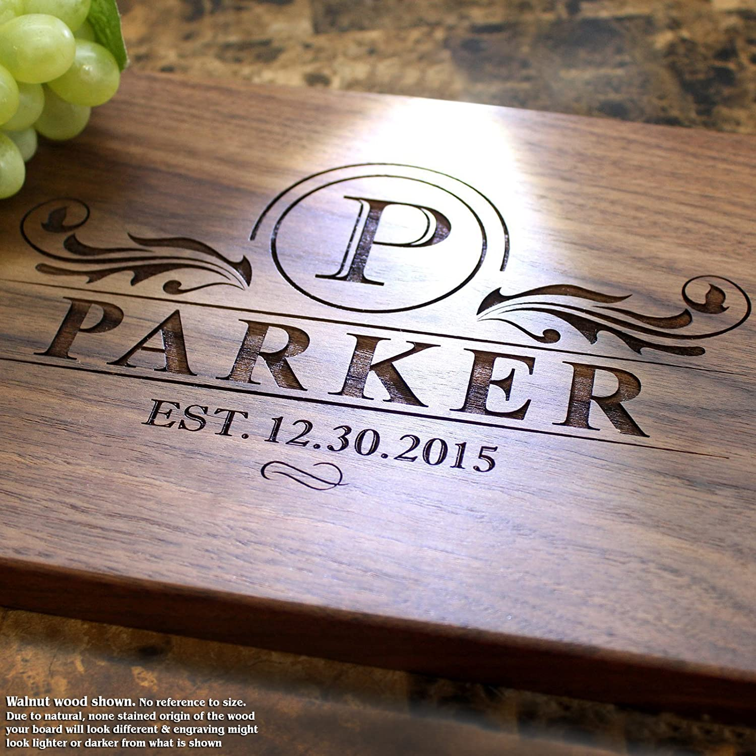 Personalized Cutting Board, Custom Keepsake, Engraved Serving Cheese Plate, Wedding, Anniversary, Engagement, Housewarming, Birthday, Corporate, Closing Gift #202