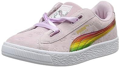 Minions Basses Fille Puma Heart Suede Fluffy PsSneakers kPZiXu