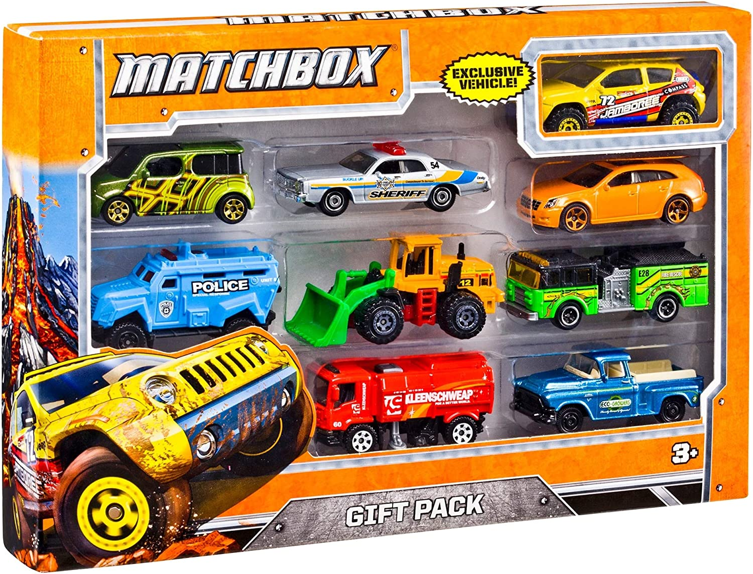Amazon Com Matchbox 9 Car Gift Pack Assorted Styles May Vary Mattel Toys Games