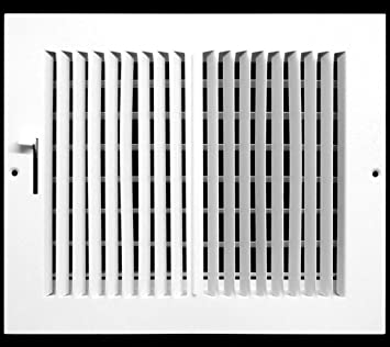 "HVAC Dcut Cover 8w/"" x 8h/"" RETURN GRILLE Flat Stamped Face Easy Air FLow"