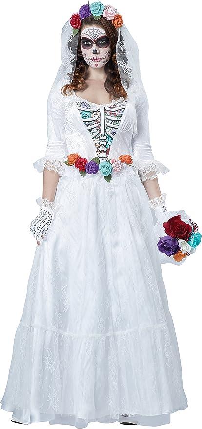 Disfraz de novia muerta mejicana para mujer: Amazon.es: Juguetes y ...