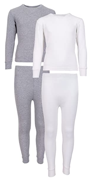 609a8702c Sweet & Sassy Girl's 2-Pack Thermal Warm Underwear Top and Pant Set-Grey