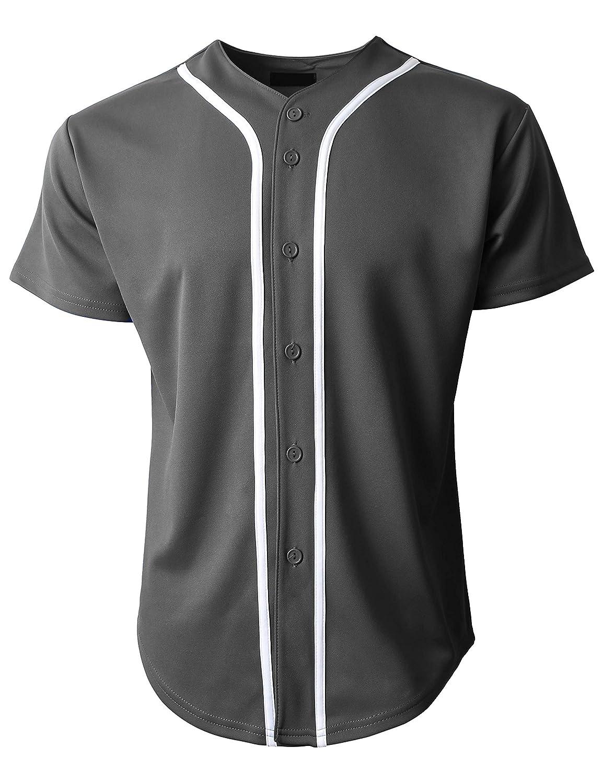 KS 1KSA0002 ボタンダウンTシャツ メンズ 野球ジャージー プレーン 半袖 B078GY3185 Medium|チャコール/ホワイト チャコール/ホワイト Medium