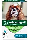 Advantage II Topical Flea Treatment for Medium Dogs, 11-20 lbs
