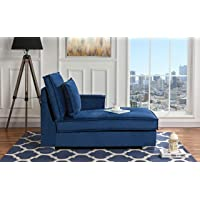 Classic Living Room Velvet Chaise Lounge