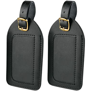 Travel Smart by Conair Large Leather Luggage Tags (2 per pack)