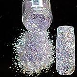 Spirit Clear Sequins Dust DIY Nail Art Glitter Gem Nail Designs Supplies Light Purple Acrylic UV Mix Size Glitter Powder 285