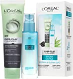 L'Oreal Paris Skincare Regimen Kit with Pure-Clay Facial Cleanser and Hydra-Genius Face Moisturizer for Normal to Dry…