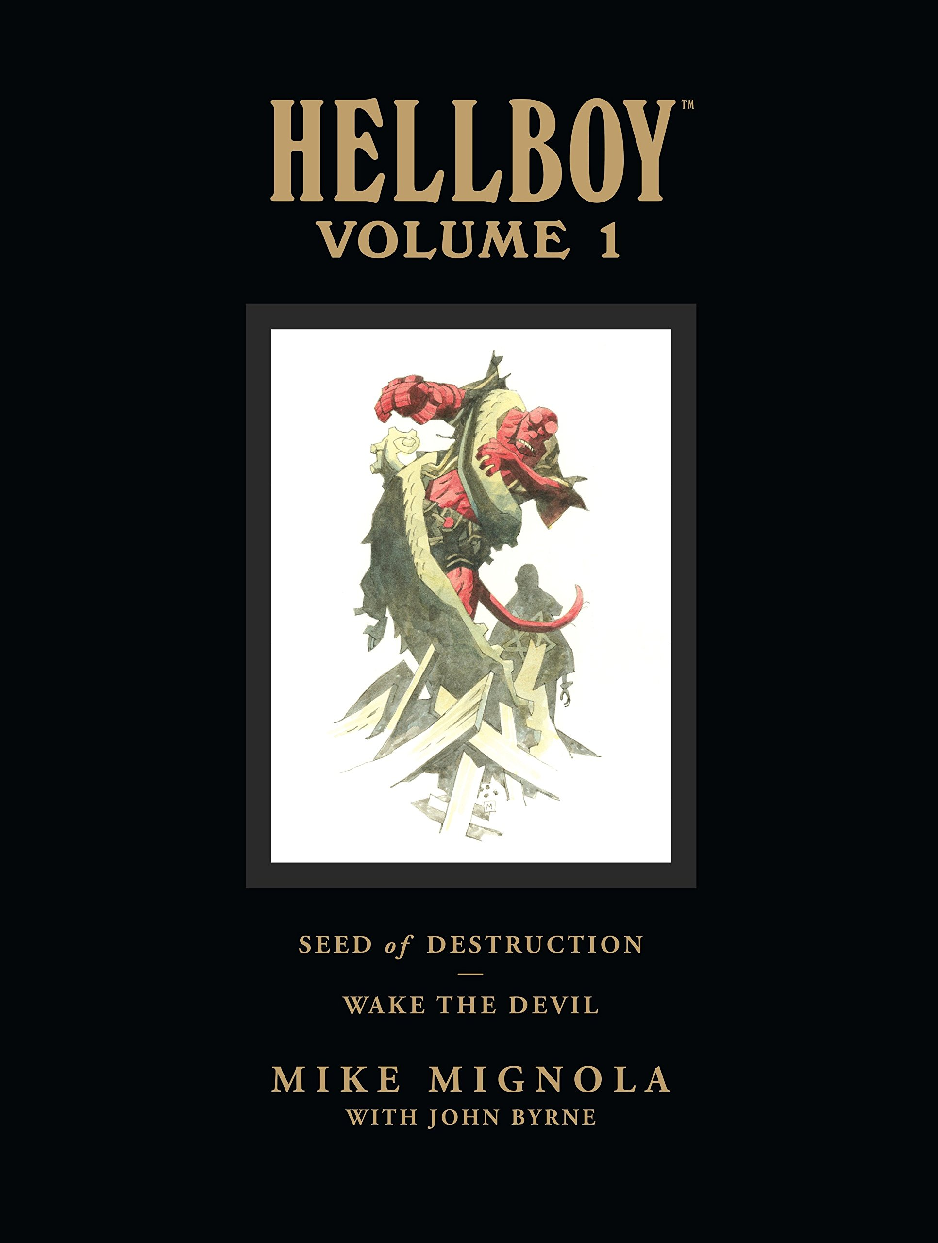 Hellboy Library Edition, Volume 1: Seed of Destruction and Wake the Devil by Dark Horse Comics