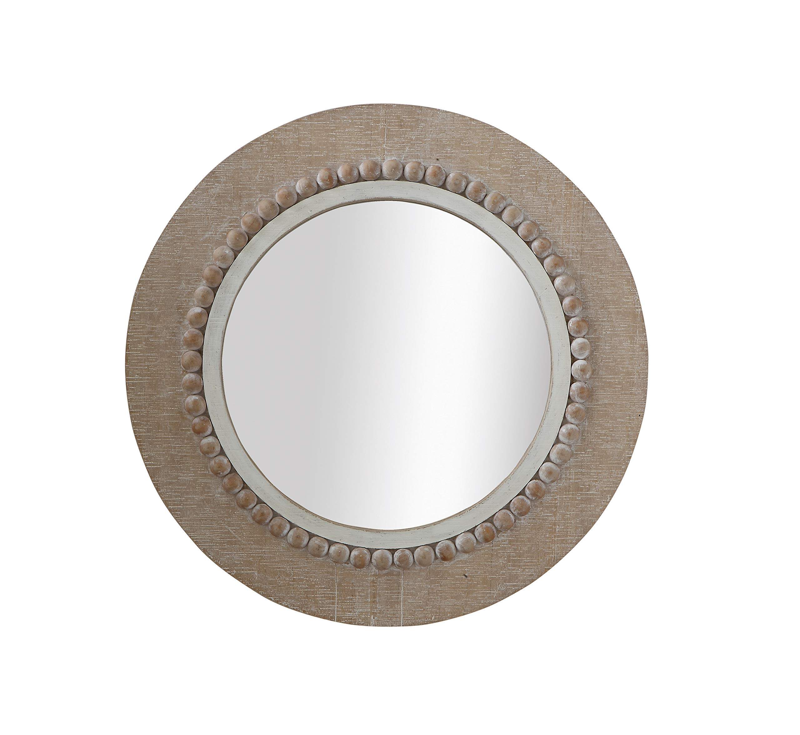 Creative Co-Op DF0224 Round Decorative Wood Wall Mirror