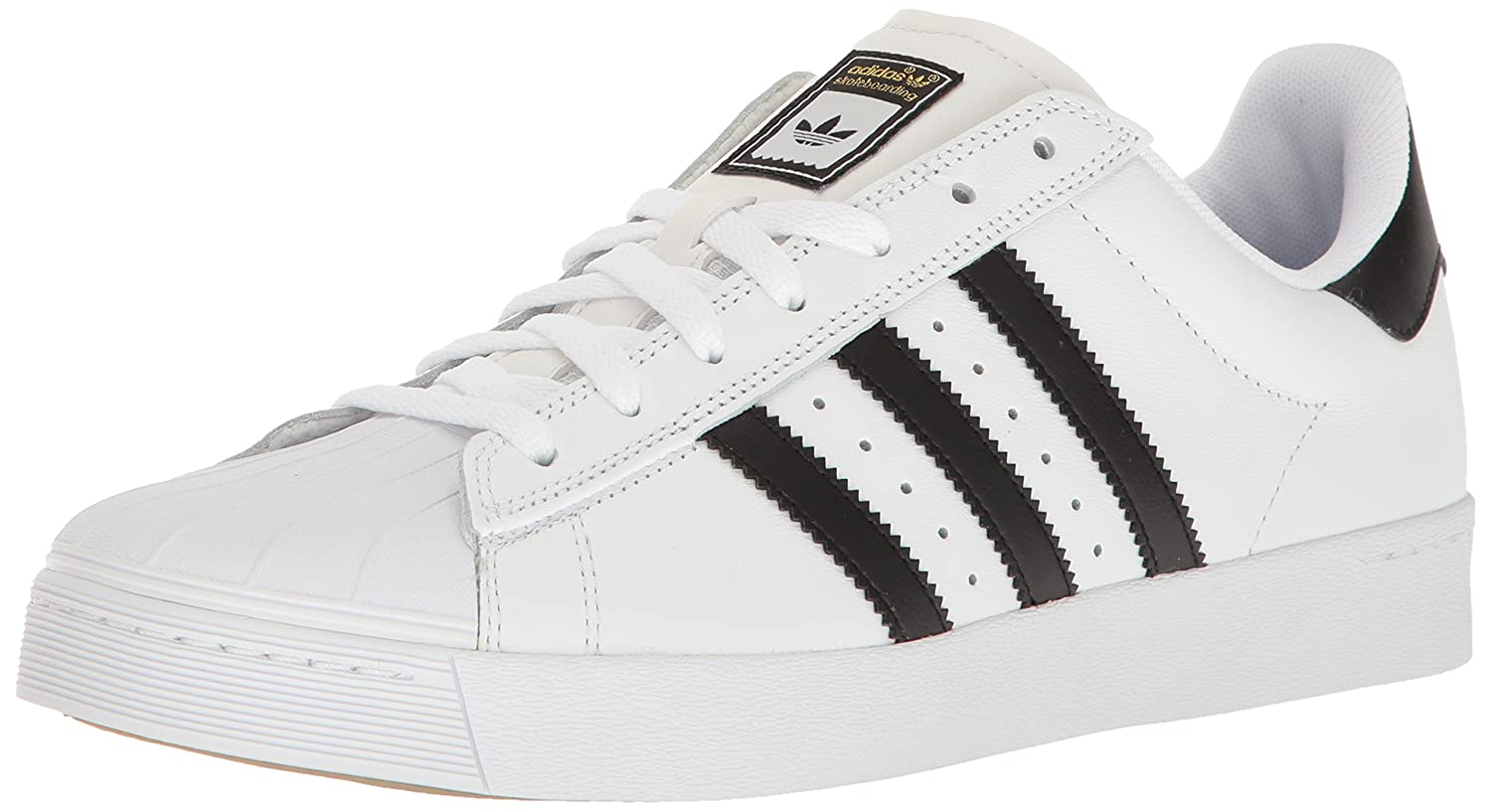 adidas Originals Men's Superstar Vulc Adv Shoes B016PACHFE 12 M US|White/Core Black/White