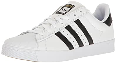adidas Originals Men's Superstar Vulc Adv Shoes, Core Black/White, (4 M