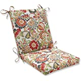 "Pillow Perfect Outdoor/Indoor Zoe Citrus Square Corner Chair Cushion, 36.5"" x 18"", Green"