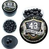 100x Premium Quality Hard Mix Rubber Steel Balls Paintballs Reballs Powerballs for Self Home Defense Training and…