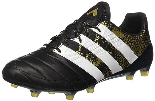 adidas Ace 16.1 Fg Leather Scarpe da Calcio Uomo Negro Cblack/ Ftwwht/ Goldmt