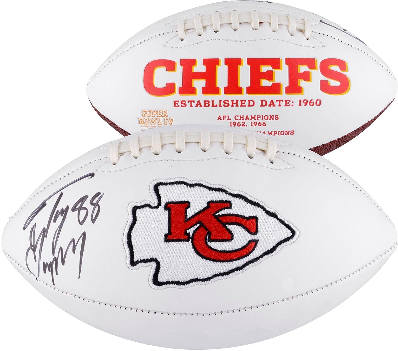 Tony Gonzalez Kansas City Chiefs Autographed White Panel Football - Fanatics Authentic Certified - Autographed Footballs