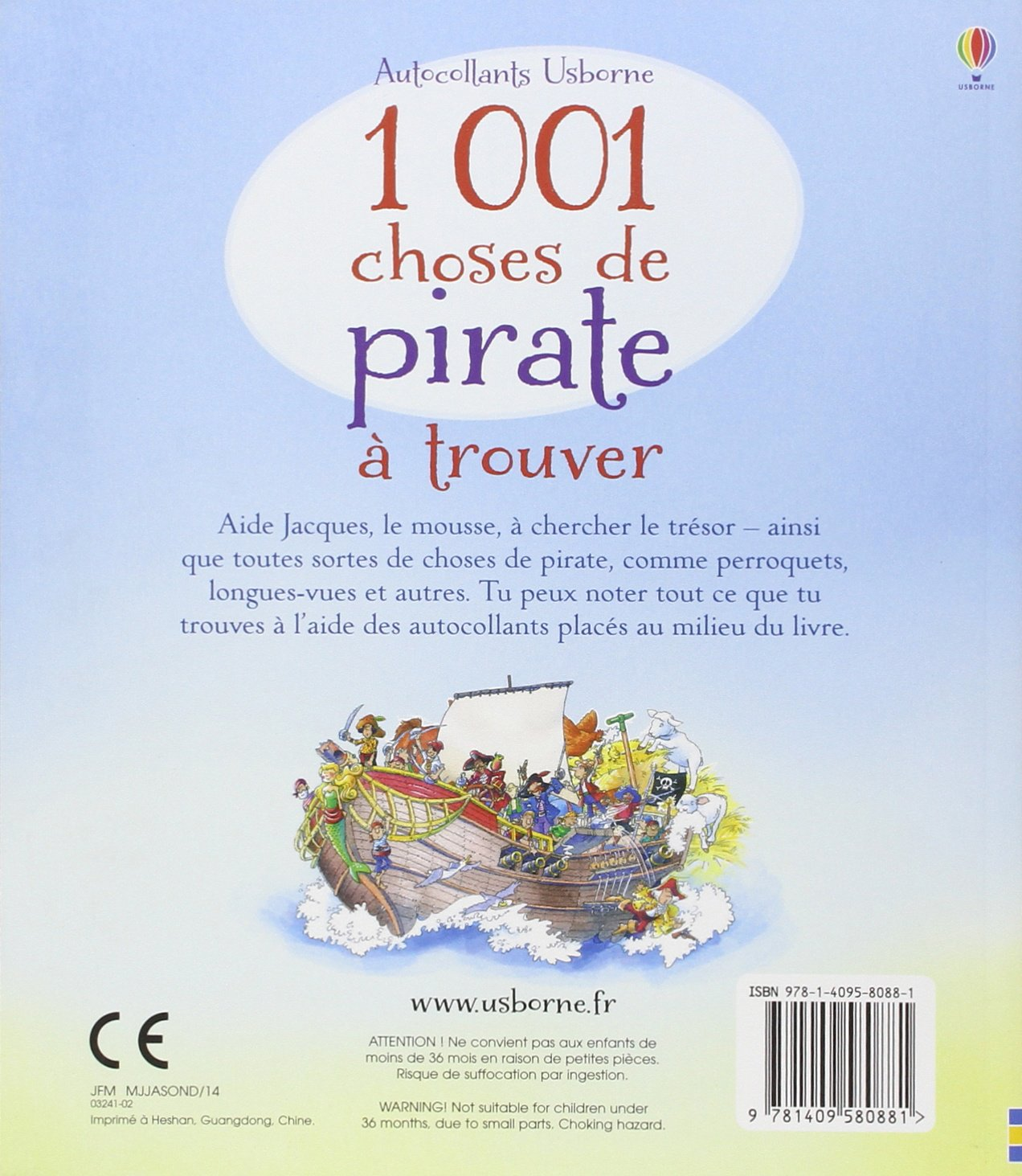 1001 choses de pirate à trouver - Autocollants Usborne: Amazon.fr: Rob  llyod Jones, Teri Gower, Michelle Lawrence, Stephanie Serazin: Livres