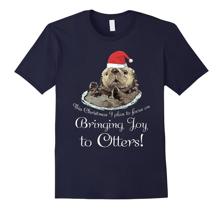 Cute Christmas Puns.Cute Christmas Otter Shirt Bringing Joy To Otters Pun Tee Anz