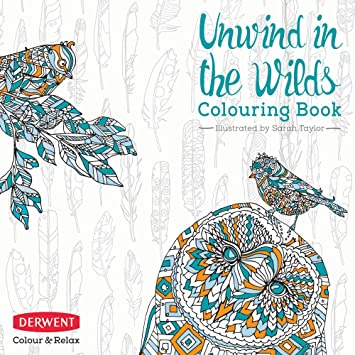 Adult coloring book color and relax unwind in the wilds by derwent 2302338