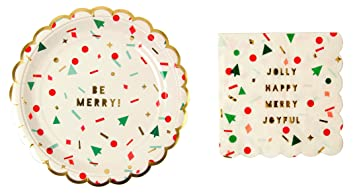 Amazon.com: Meri Meri Toot Sweet Christmas Confetti Large Paper ...