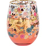 Pavilion Gift Company 18 Oz Stemless Wine Glass Ombre Pink Bottom With Gold Rim Mom You Are So Loved