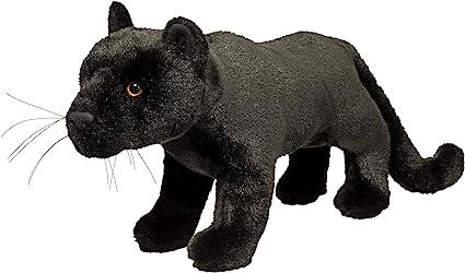 Free Del Large Soft Plush Black Panther Zoo Animal Cuddly Stuffed Tiger Toy