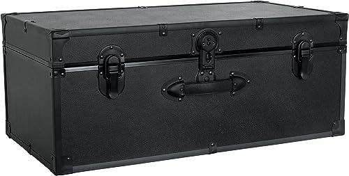 Seward Trunk Barracks Footlocker, Black, One Size