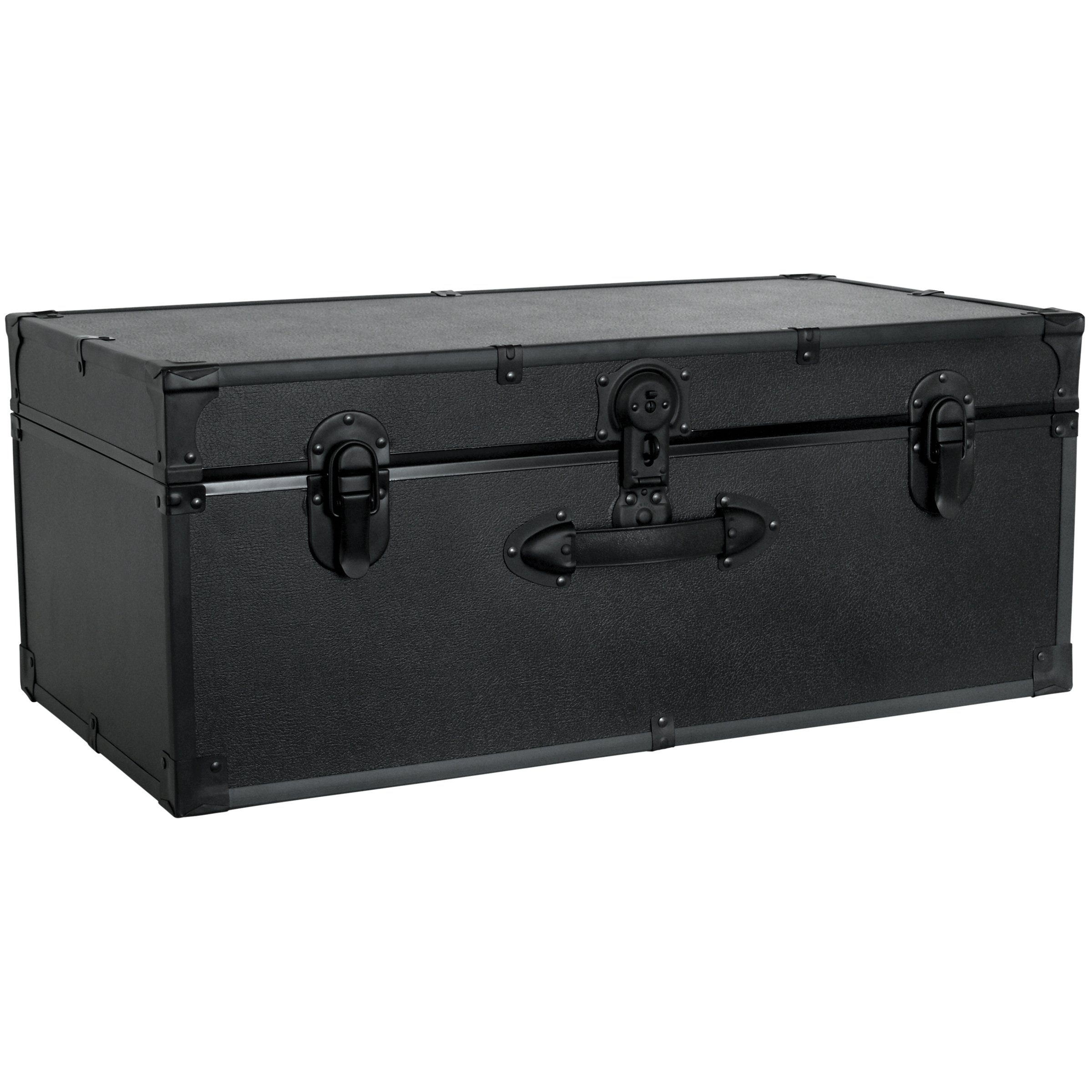 Seward Trunk Barracks Footlocker Trunk, Black, 30-inch (SWD5115-10)