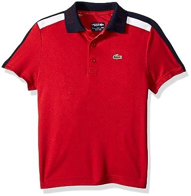 dc9ce74e10069e Amazon.com  Lacoste Boy Sport Short Sleeve Color Block Tennis Polo ...