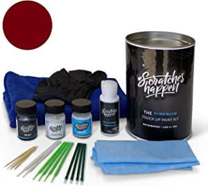 ScratchesHappen Exact-Match Touch Up Paint Kit Compatible with Alfa Romeo Rosso Competizione (361/B/PC9) Tricoat - Complete