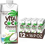 """Vita Coco Water More """"Coconutty"""" Flavor Natural Electrolytes Vital Nutrients 16.9 Pack Of 12, Pressed Coconut, 202.8 Fl Oz"""