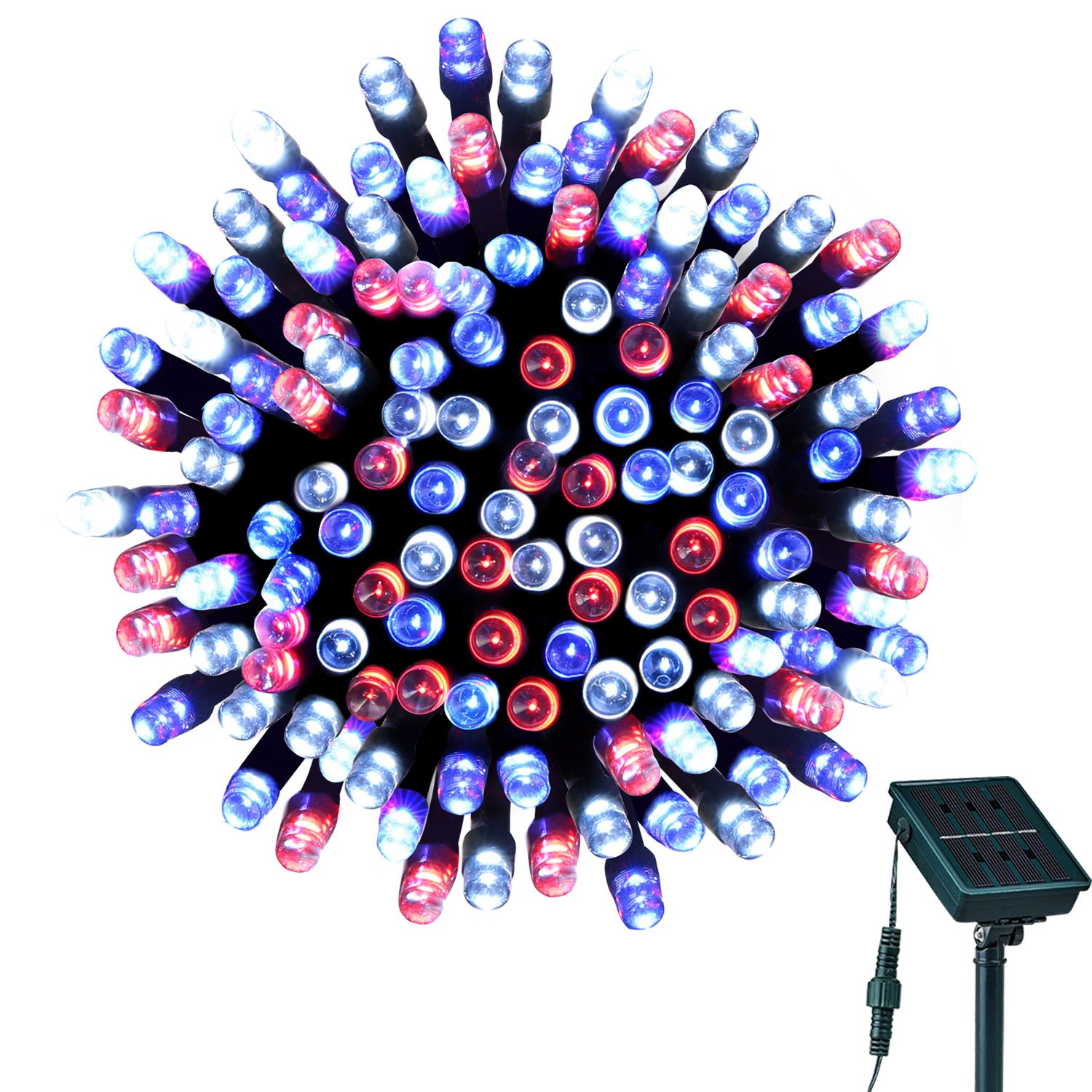Red Decorative String Lights : Solar String Lights Outdoor 72ft 200LED Waterproof Red White Blue Decorative eBay