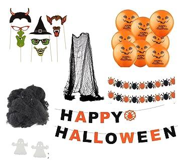 Halloween Deko Grusel Dekoration Set Mit Uber 30 Teilen Deckenhanger