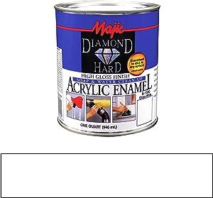 Majic Paints 8-1500-2 Diamond Hard Acrylic Enamel High Gloss Paint, 1- Quart, Gloss White