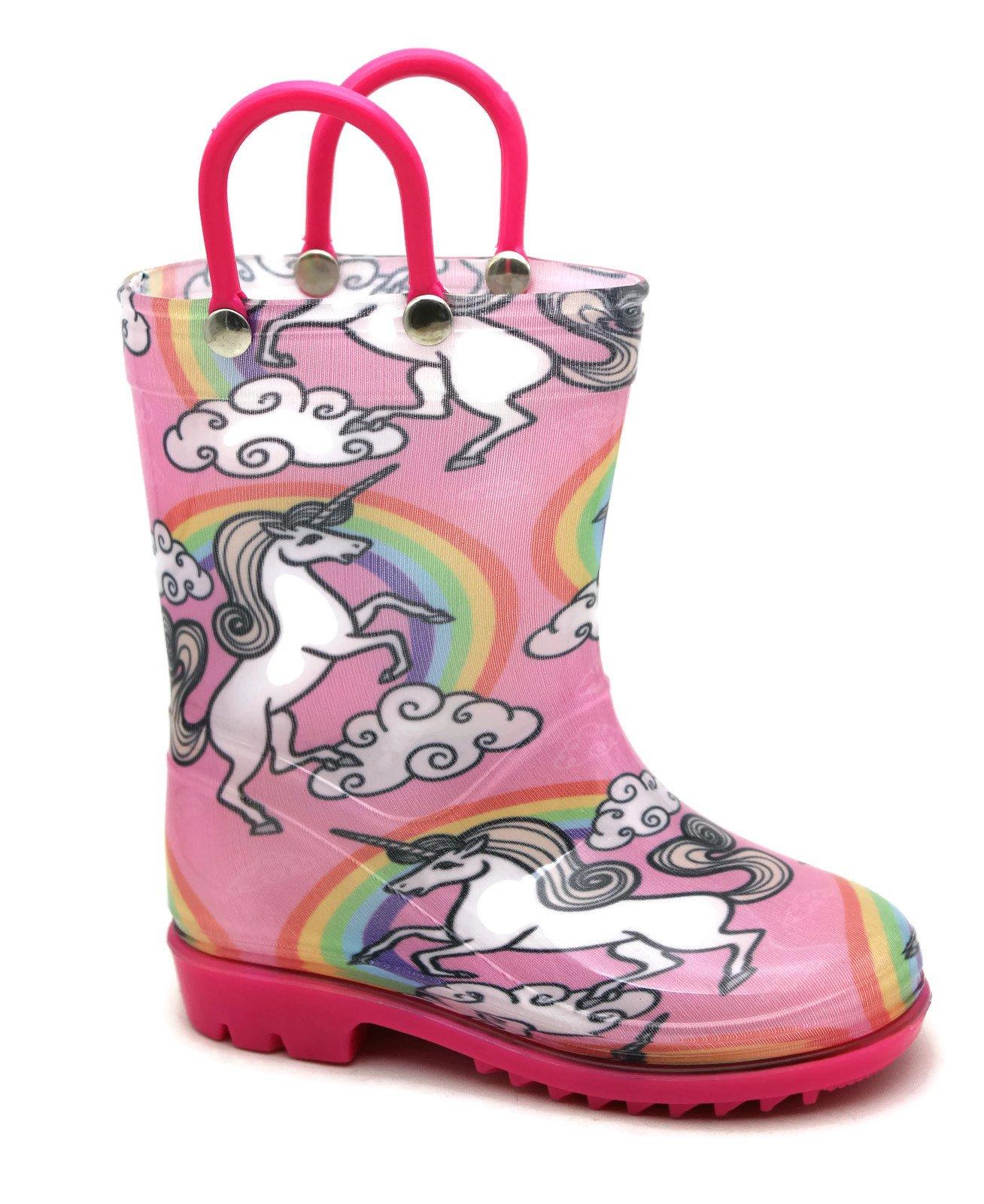 Storm Kidz Kids Girls Unicorn Printed Rainboots, Little Kid 11